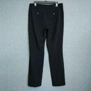NYDJ Straight Trousers/Pants Size 10P Black
